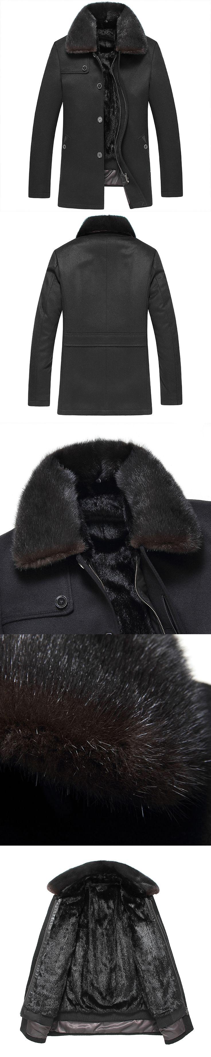 2017 New Mens Sheepskin Coat Winter Male Fur Coat Men's Leather Jacket cashmere Thicken Leather Fur Coat Manteau Fourrure Homme