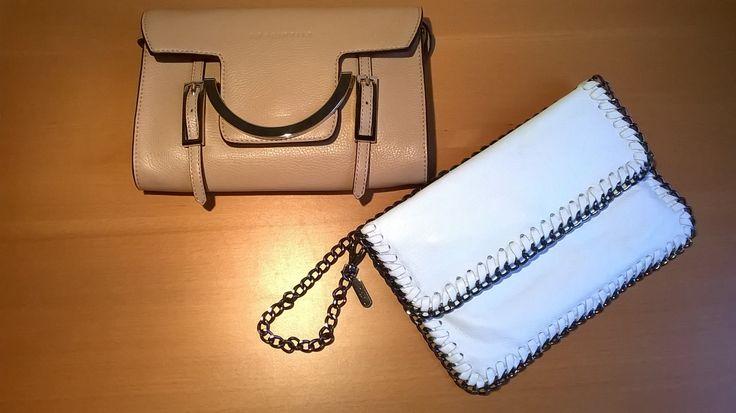 Borsa beige #Coccinelle; borsa bianca NoNu. #LauraSerena #ilmiostilelibro http://www.ilmiostilelibro.it/nuove-nel-mio-armadio-due-borse-perfette-per-la-bella-stagione/#more-318