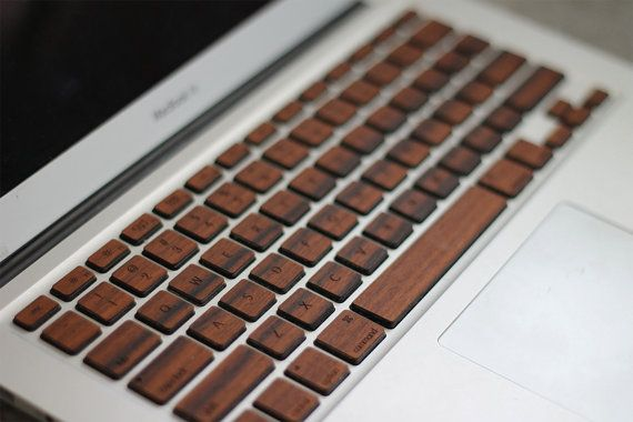 Real Rosewood Macbook Wood Keyboard Skin. $25  This is so cool!!  (Now if only I had a Mac:)