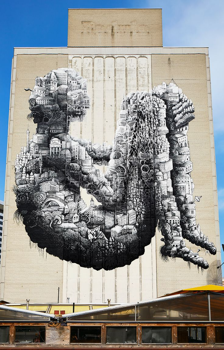 Graffiti art for sale canada - Phlegm S Enormous Toronto Mural Breathes New Life Into Yonge St Clair