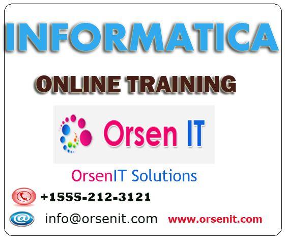 INFORMATICA online training,informatica training in usa