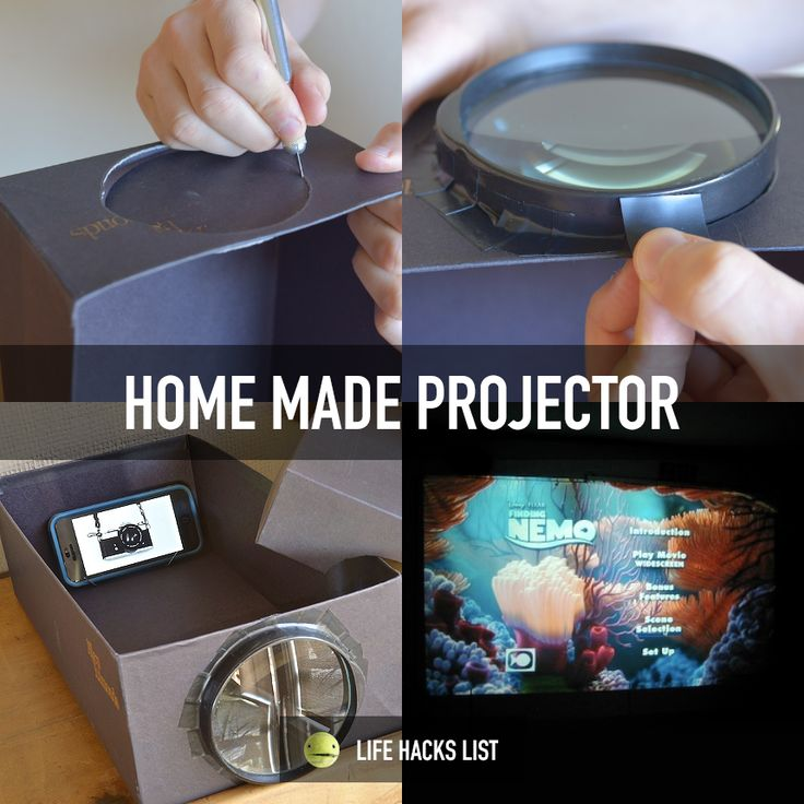 i present to you a home made movie projector for your viewing pleasure you 39 ll need 1 phone 1. Black Bedroom Furniture Sets. Home Design Ideas