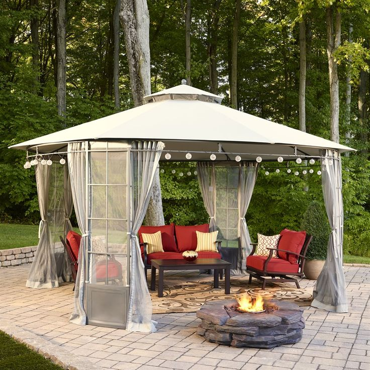 This Spring, Practically Live Outdoors With This Durable, Weather Resistant  Gazebo And Conversation