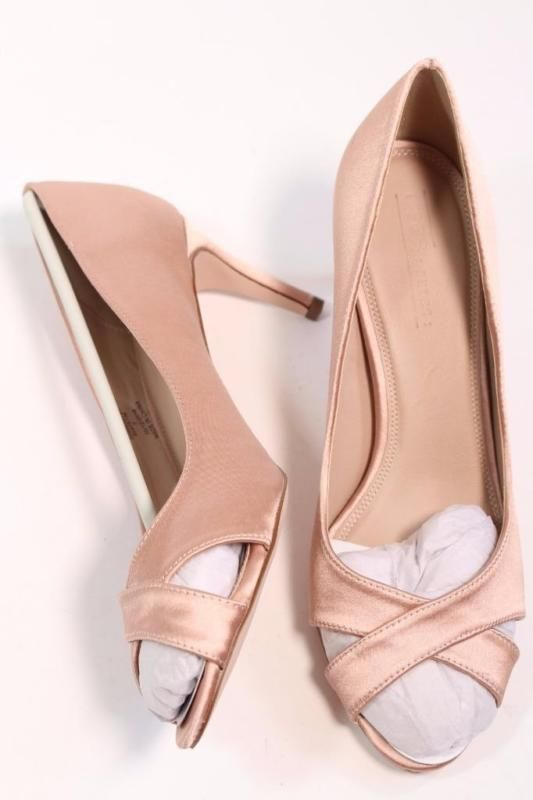 641de1e9366 ASOS SAGE PINK NUDE SATIN MID HEELS BRIDAL SHOES SIZE UK7 EUR40 RRP ...