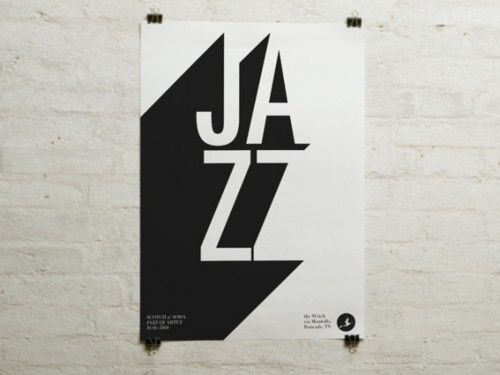 Using negative space with typography