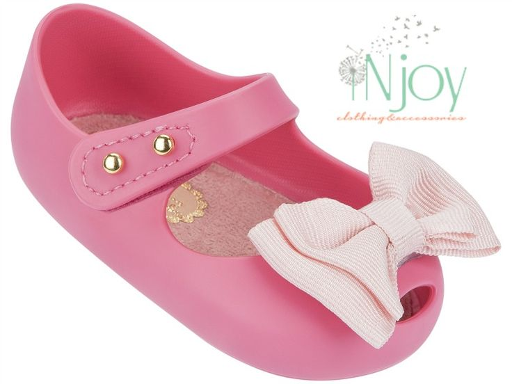 My First Mini Melissa Baby Shoes Pink Bow #minimelissababy #babyshoes  #ultragirl #weareflowers