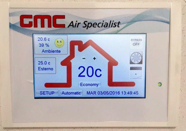 Comando touch screen per VMC residenziale