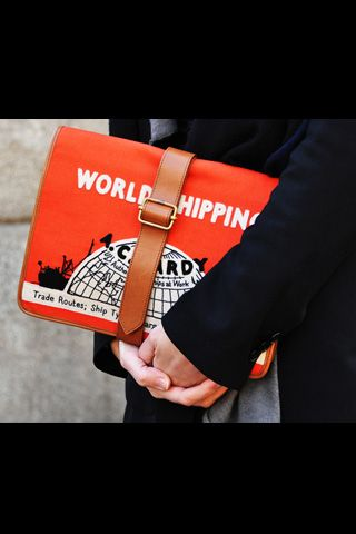 "Olympia Le-Tan ""World Shipping"" satchel ♥"