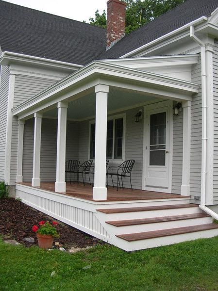 Best 25 small back porches ideas on pinterest small for Side porch designs
