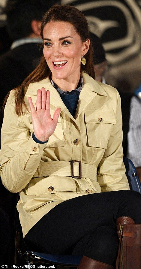 Battling the elements, the Duke and Duchess of Cambridge arrived on the remote Canadian is...
