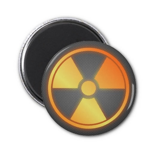 radioactive carbon fiber refrigerator magnet by BannedWare