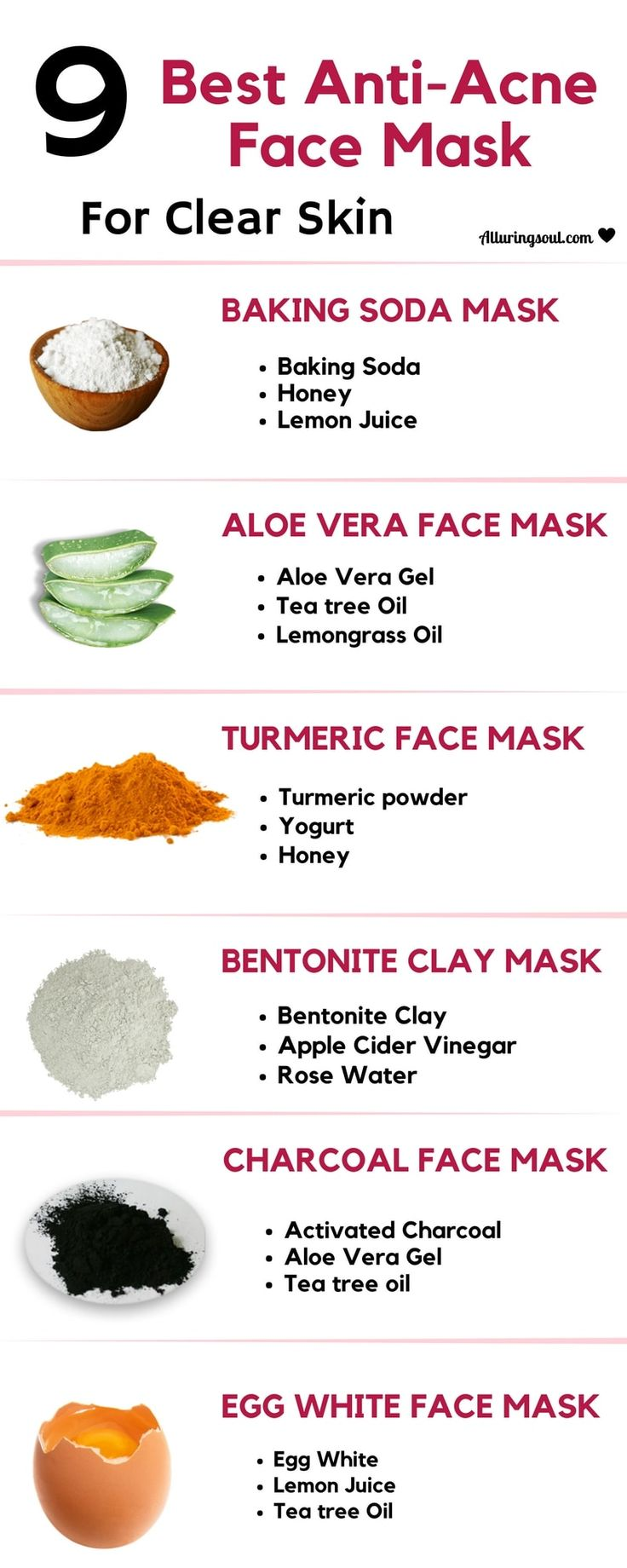 acne face mask will help to remove acne, redness and soothe skin. It help to get rid of problems without any side effects.