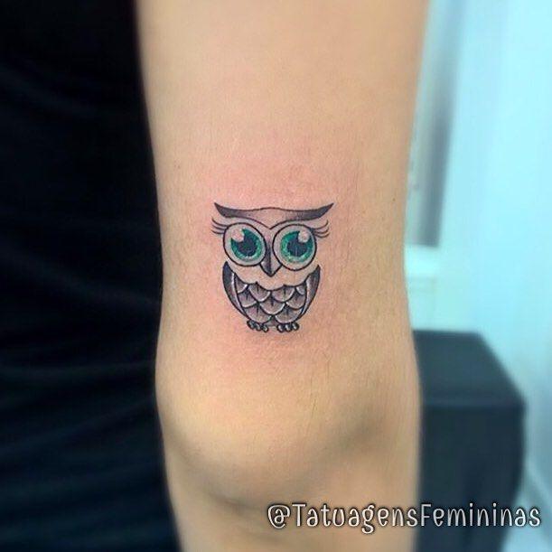 Mini Coruja /Owl . Feita pelo Tatuador/Tattoo Artist: Brennolimma . ✧…