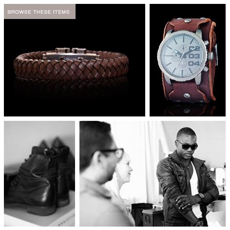 "Get the Movie Star look ""Layer your wrists with multiple shades & styles of brown leather cuffs & watches"" - Craig Jacobson  #IHEARTSWISS #menstrends"
