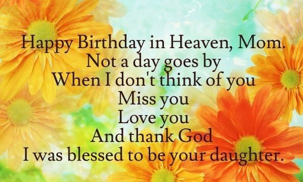 Happy Birthday Mom in Heaven Quotes, Images, Wishes, Status & SMS Messages