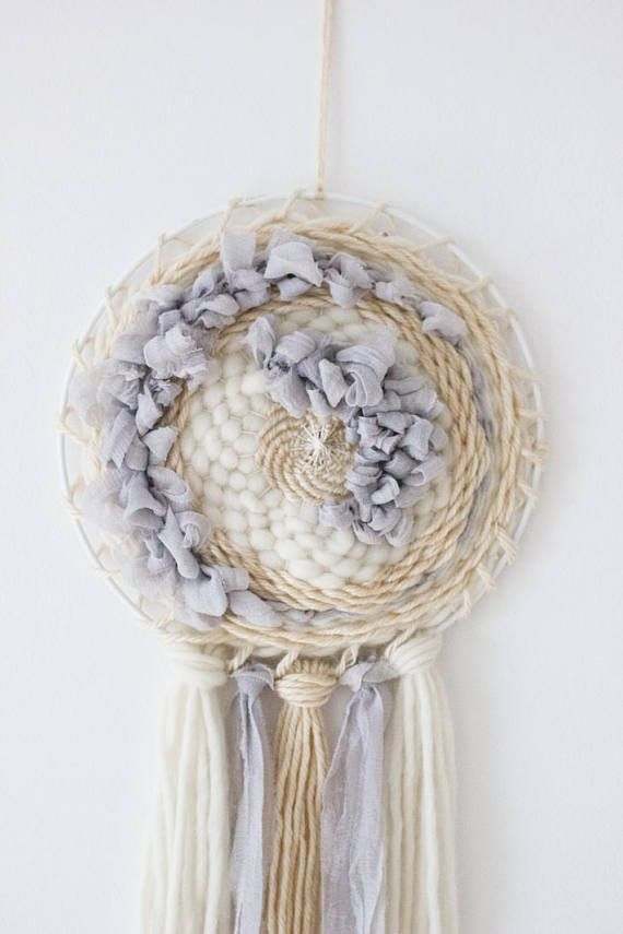 One Of A Kind Handwoven Circular Wall Hanging Made With Luxury Fibers Like Soft Merino Wool Silk Chiffo Circular Weaving Woven Wall Art Weaving Loom Projects