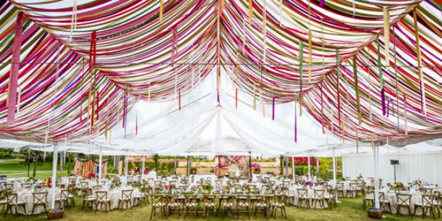 20 Ways To Make A Statement At Your Wedding -- From Above