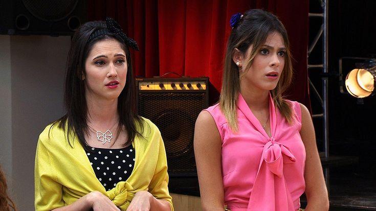 """Lodovica Comello and Martina Stoessel in """"Violetta"""" (2012)"""
