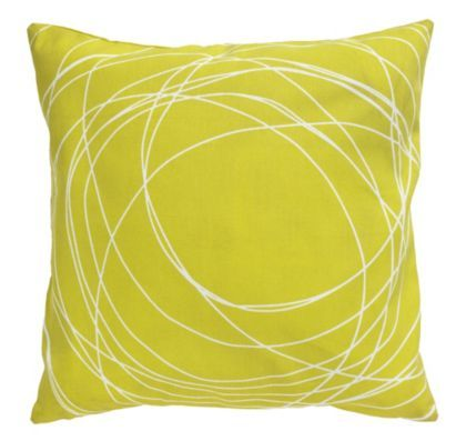 Circle Scribble Cotton Cushion in Gentian, 5052931049646