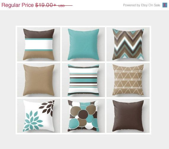 SALE Throw Pillow Geometric Home Decor Brown by HLBhomedesigns