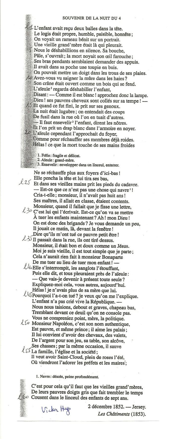 Souvenir de la nuit du 4, Victor Hugo, 1853. | L'art et ...