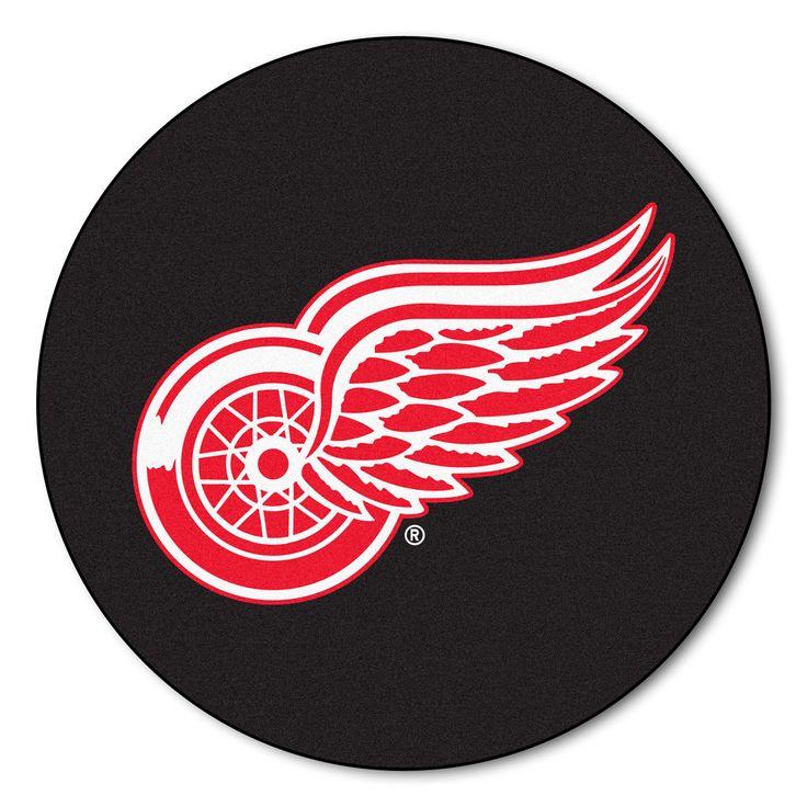 Detroit Red Wings Hockey Puck Area Rug