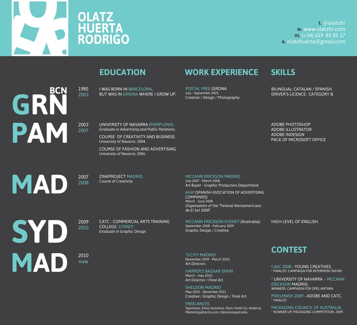 72 best Resume + Portfolio design images on Pinterest Resume - portfolio for resume