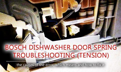 Bosch dishwasher door spring troubleshooting (tension