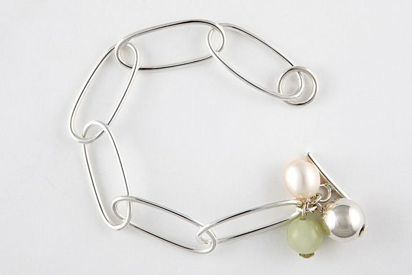 Jade, freshwater pearl & sterling silver bracelet | available to buy from Luone {#bracelet #australianmade #gorgeousjewellery}