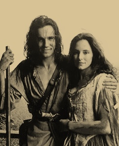 Daniel Day-Lewis & Madeleine Stowe, great together in The Last of the Mohicans. I love this movie!!!!