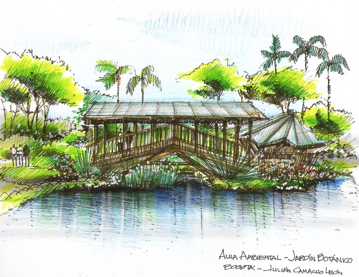 56 best dibujo a mano alzada images on pinterest city for Jardines espectaculares