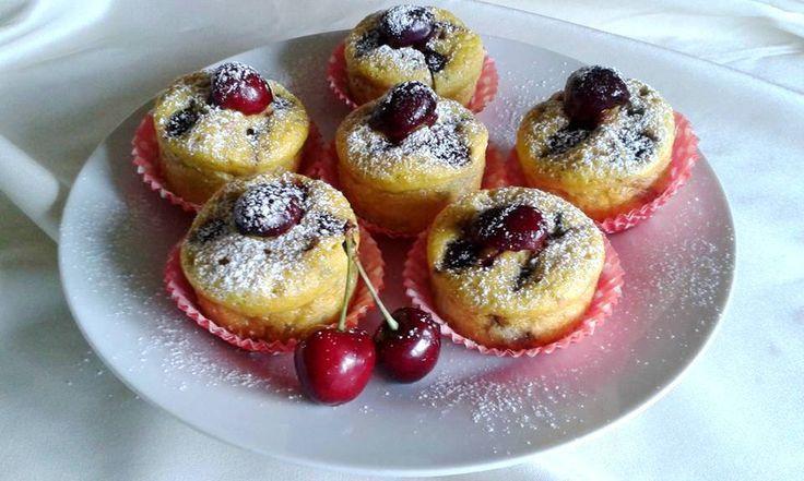 Málnás meggyes muffin (paleo muffin)