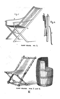 Civil War Furniture on camping chairs with table