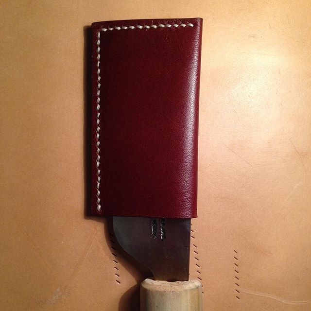 New sheath for skiving knife. #leathertool #leatherknife #leatherknifesheath #leathercraft