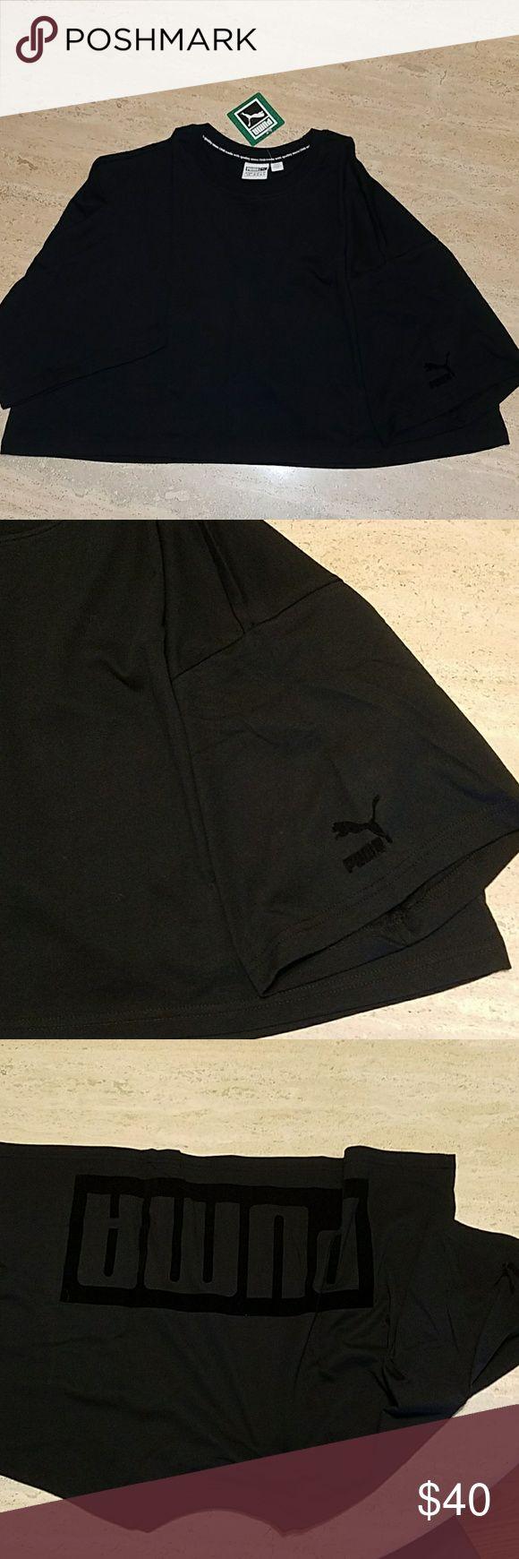 Black PUMA shirt size L Black PUMA  shirt size L Puma Tops Tank Tops