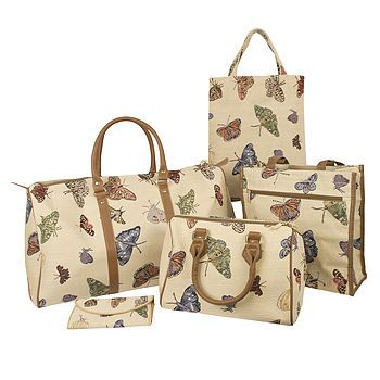 Butterfly Tapestry Luggage Collection