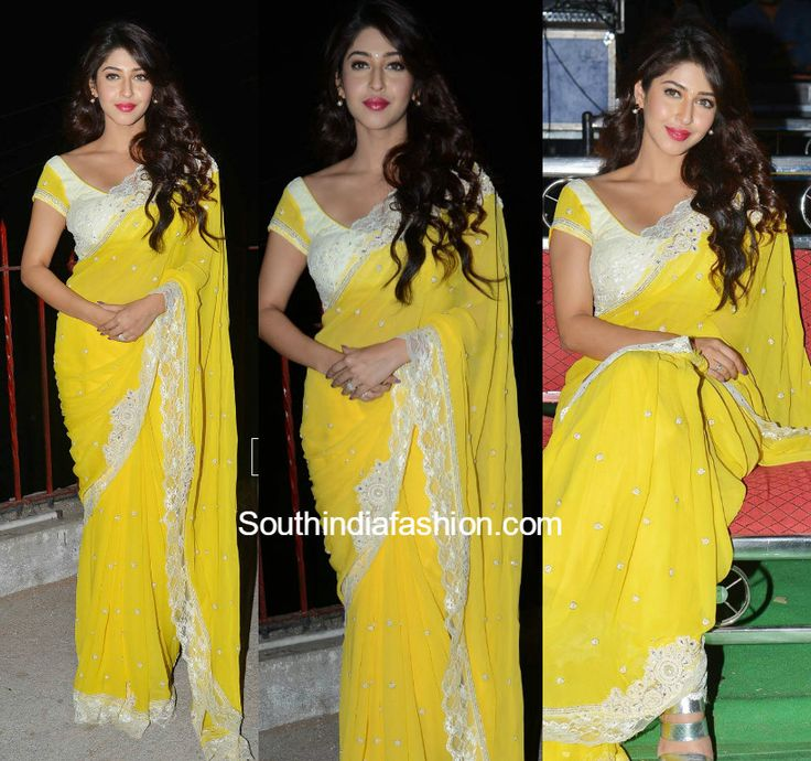 Sonarika Bhadoria in a Saree