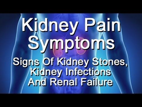 Kidney Pain Symptoms - Signs Of Kidney Stones, Kidney Infection, Renal F...