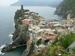 Ciudad, Roca, Mar, Italia, Cinque Terre