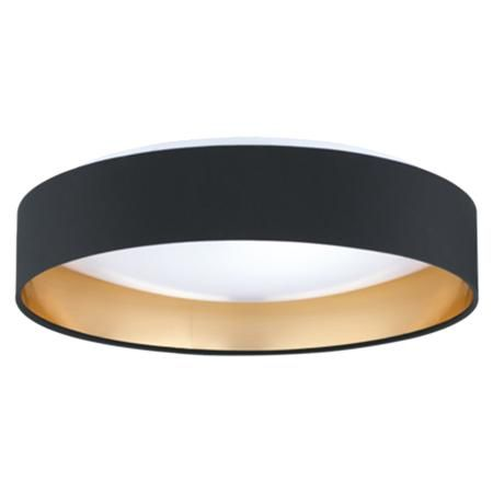 Modern Ringed LED Ceiling Light Available in 3 Colors: Black and Gold, Brown and…