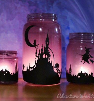 Enchanting halloween lanterns // Varázslatos lámpások - befőttes üvegből // Mindy - craft & DIY tutorial collection