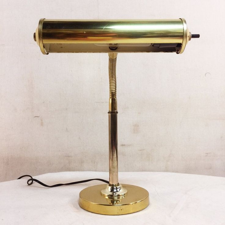 Vintage Solid Brass Piano Lamp $45