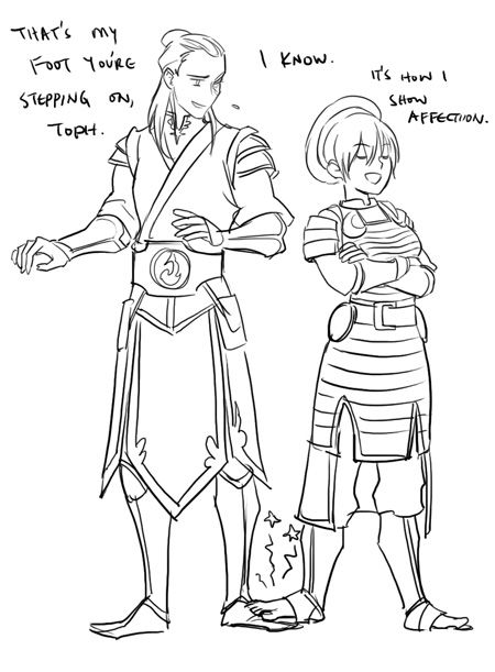 Toph showing her affection the best way she knows how by viria