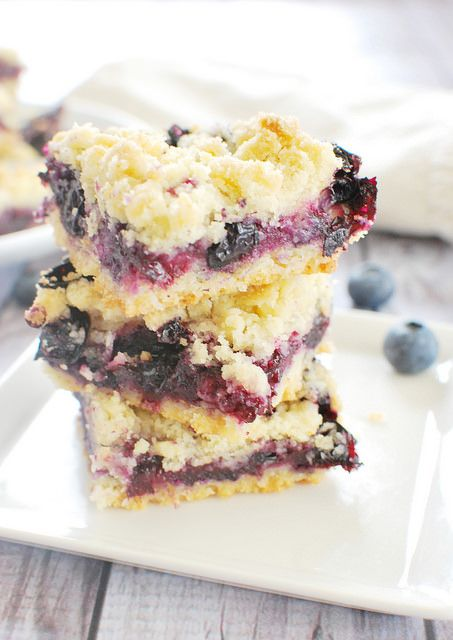 Blueberry Crumb Bars by fakeginger, via Flickr