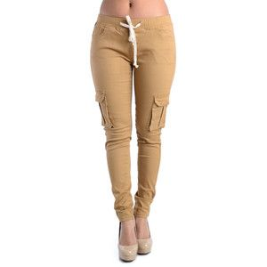 Bleu Evolution LADIES TWILL CARGO JOGGER PANTS