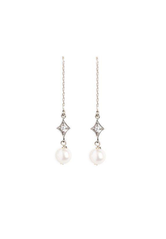 NIGHTINGALE pearl drop bridal earrings 1