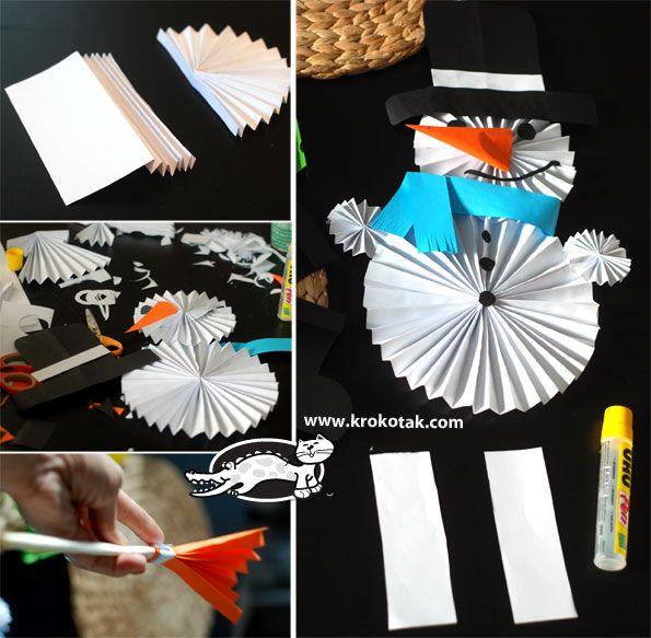 Three easy winter ideas from folded paper | krokotak