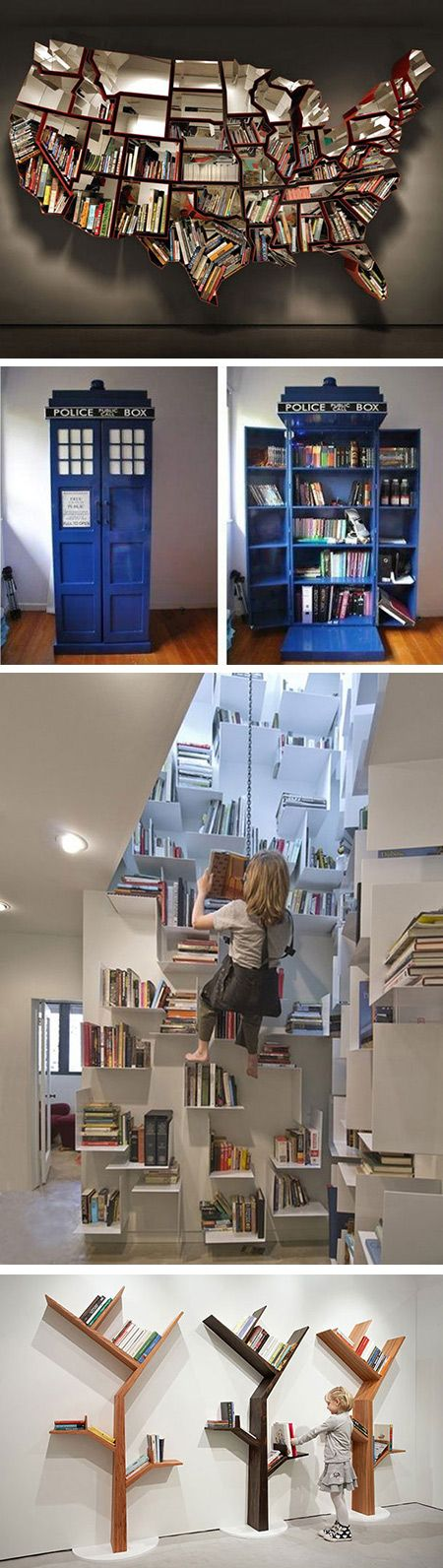 32 Cool and Creative Bookshelves That Geeks Would Love - TechEBlog. Soo awesome!!!!