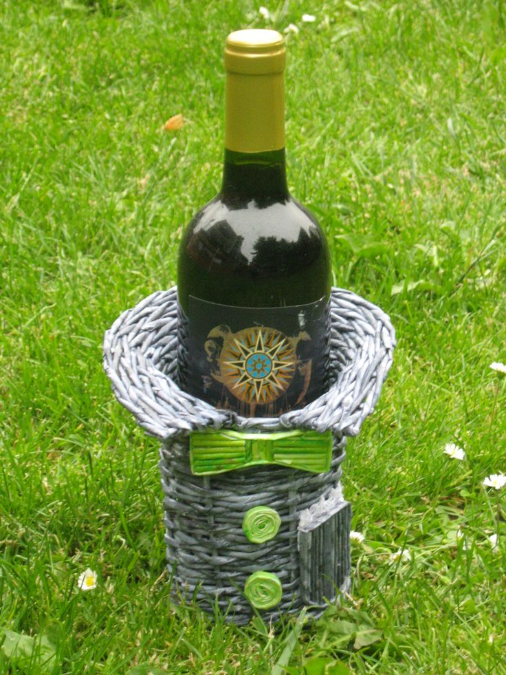 obal na víno-kravaťák