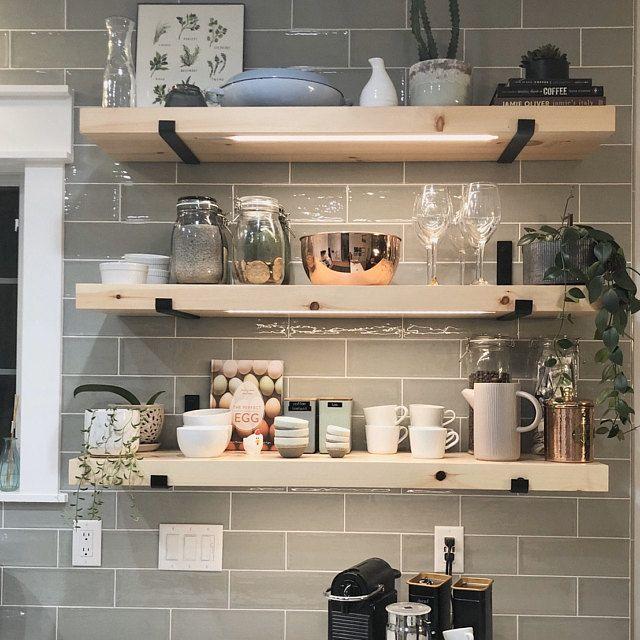 Floating Shelf Brackets Modern Farmhouse Kitchen Shelves Rustic